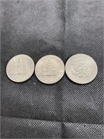6 Kennedy half dollar coins
