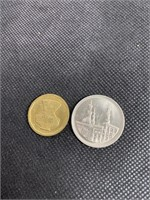 Lot of 2 Arabic coins