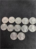 12 United States 1776-1976 Quarters