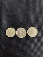 3 turkiye cumhuriyeti coins