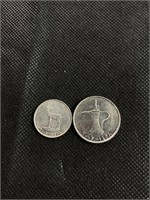 Lot of two Arabic coins