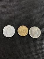 Belgisch, brasil and confœderatio coins