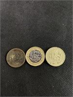 3 Elizabeth II coins