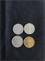 Indian and Japanese coin set