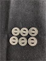 6 DC fair tokens