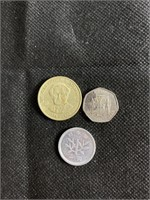Jamaican and Japanese coins