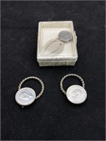 Coin pins and suit pin