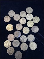 Lot of random assorted play coins