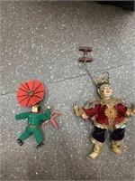 Antique puppets