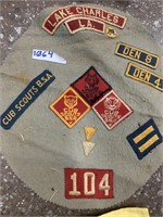 Boy scout patches and themed cloth