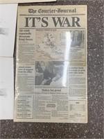 Antique newspaper and art