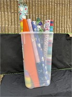 Large lot of assorted wrapping paper