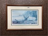 Framed wall photograph