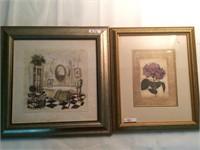 two framed wall art