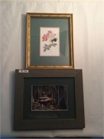 two framed wall photographs