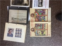 Set of photographs and pamphlets