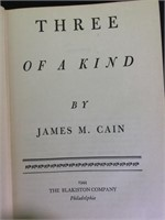 """Three Of A Kind""~James M. Cain"