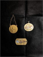 Keychain and Medal set