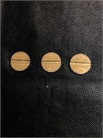 3 Gettone telefonico coins