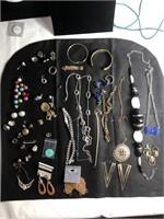 Huge lot of fashionable costume jewelry