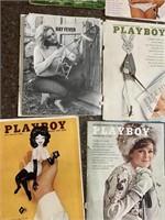 Vintage playboy paper sheets