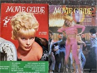 Vintage movie guide paper sheets