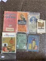 Antique cook books