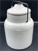 Ca. 1901 Antique The Weir Stone Crock With Locking