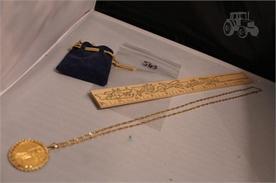 14K GOLD CHAIN W/ $50 GOLD EAGLE COIN ROPE MOUNT Other Items