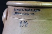 O.L. & AK Ballard Stoneware Jar