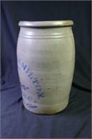 Richey & Hamilton Cobalt Decorated Stoneware Jar