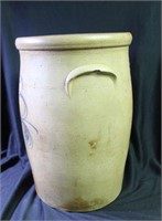3 Gallon Cobalt Decorated Stoneware Churn