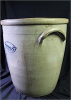 6 Gallon Cobalt Decorated Stoneware Churn