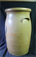 Cobalt Decorated Stoneware Churn