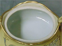 Moriage Peacock Bowl with Top.