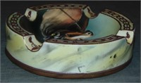 Nippon Horse Motif Ash Trays.