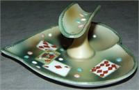 Nippon Ash Tray. Playing Card Motif.