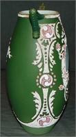 Rare Kinran Coralene Hand Painted Vase.