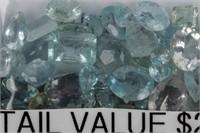 Jewelry Lot of Natural Aquamarine Gemstones 50 ctw