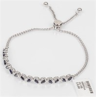 Jewelry Sterling Silver Sapphire Cocktail Bracelet