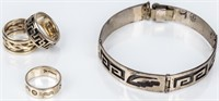 Jewelry Sterling Silver Bracelet and Rings