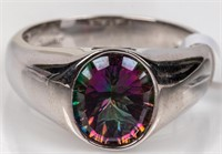 Jewelry Sterling Silver Mystic Topaz Ring