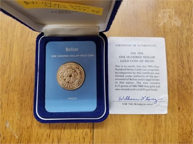 1 1976 Belize Proof Gold Coin 621 Grams Other Items For