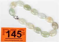 Jewelry Aquamarine Beaded Necklace Sterling