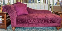 Furniture Burgundy Fainting Couch