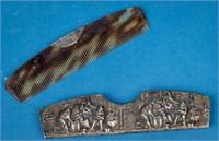 Vintage Sterling Silver Danish Mirror & Comb