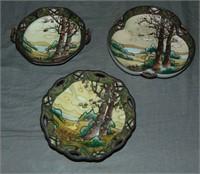 Nippon Dark Wood Land Lot of (15) Pieces.