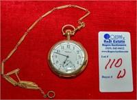 Masonic Waltham Pocket Watch w/ Chain