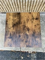 Distressed Wood and metal Side table