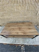 Beautiful Wooden Coffee Table with Metal frame